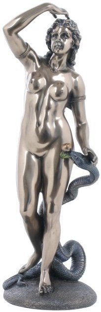 Picture of Eve and the Snake Bronze Statue 33 cm