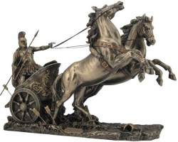 Picture of Achilles in Chariot Bronze Statue 37 cm