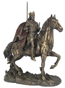 Picture of King Arthur On Horse Bronze Figurine 30cm