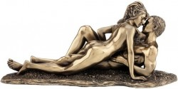 Picture of Entwined Bronze Nude Couple Figurine 28cm