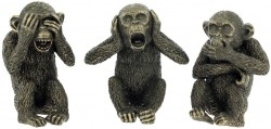 Picture of Three Wise Monkeys Bronze Figurines (Set of 3)