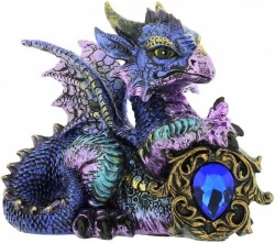 Picture of Tyrian Blue Dragon Figurine (Alator)
