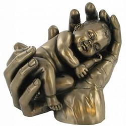 Picture of Baby in Hands Bronze Figurine Sweet Dreams