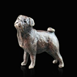 Picture of Pug Bronze Miniature (Butler and Peach)