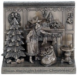 Picture of Twas the Night Before Christmas Bronze Figurine 26cm