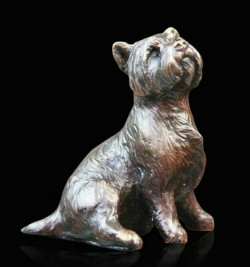 Picture of Westie Sitting Bronze Figurine (Limited Edition) Michael Simpson