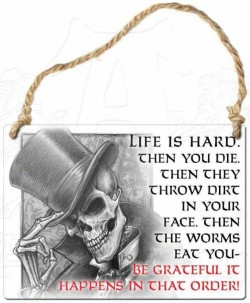 Picture of Life is Hard Small Steel Plaque