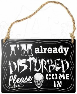 Picture of Im Already Disturbed Small Steel Plaque