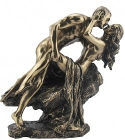 Picture of Nude Lovers on Rock Bronze Figurine