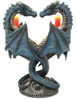 Picture of Dragon Heart Twin Candle Stick (Anne Stokes)