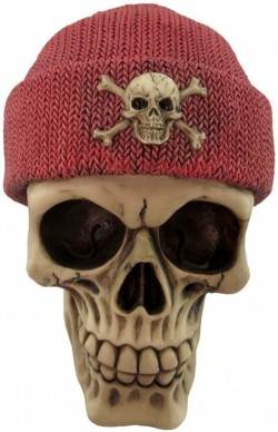 Picture of Red Beanie Hat Skull 16cm