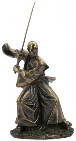 Picture of Samurai Training Bronze Figurine 31 cm