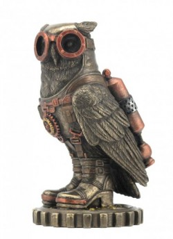 Picture of Steampunk Owl Bronze Small Figurine