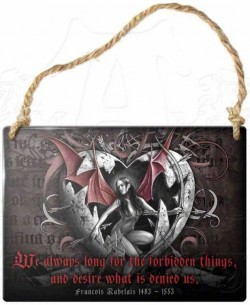 Picture of Desire Forbidden Things Small Steel Plaque