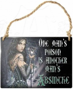 Picture of One Mans Poison Small Steel Plaque
