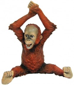 Picture of Baby Orangutan Arms Over Head Figurine NEW