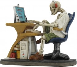 Picture of Surfed Too Long Skeleton Figurine