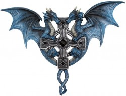 Picture of Dragon Duo Wall Plaque (Anne Stokes) 34cm