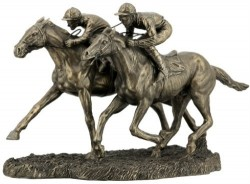 Picture of Two Jockeys Racing Bronze Figurine 32cm