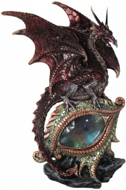 Picture of Protector of the Eye Red Dragon LIGHT FEATURE Figurine (Alator) 21 cm