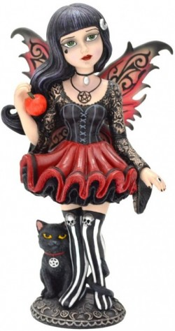 Picture of Hazel Gothic Fairy Figurine 16cm (Little Shadows)