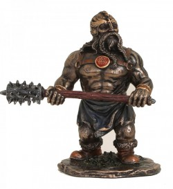 Picture of Warrior Dwarf with Great Mace Figurine