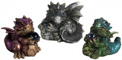 Picture of Dragons Trio Figurines (Set of 3)