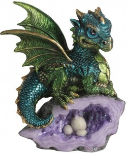 Picture of Green Nest Guardian Dragon Figurine