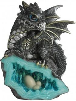 Picture of Blue Nest Guardian Dragon Figurine