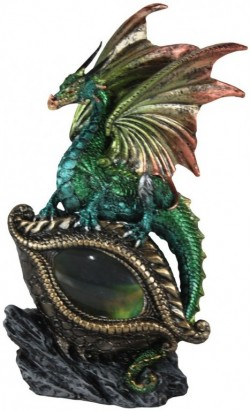 Picture of Protector of the Eye Green Dragon LIGHT FEATURE Figurine (Alator) 21 cm