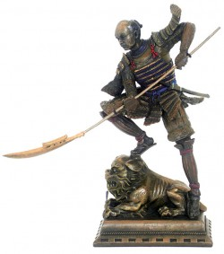 Picture of Samurai Castle Defender Bronze Figurine