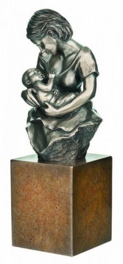 Picture of Devotion Bronze Sculpture on Plinth 24cm