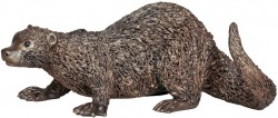 Picture of Otter Crouching Bronze Sculpture Veronica Ballan