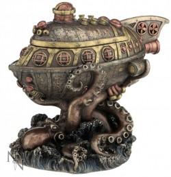 Picture of Steampunk Leviathan Escape Bronze Figurine Box