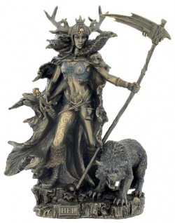 Picture of Hel Bronze Statue Goddess of Helheim