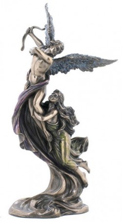 Picture of Cupid and Psyche in Flight Bronze Figurine
