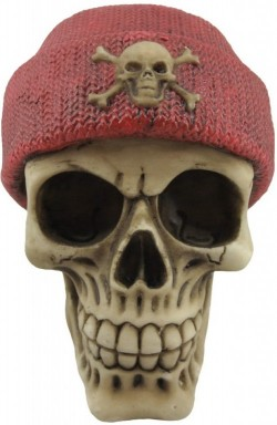 Picture of Red Beanie Hat Skull 13cm