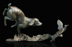 Picture of Cocker Spaniel with Woodcock Bronze Figurine (Limited Edition) Michael Simpson LAST FEW LEFT