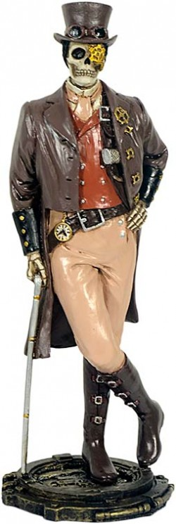 Picture of Steampunk Gentleman Skeleton Figurine 21cm