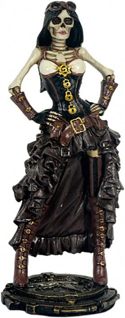 Picture of Lady Steampunk Skeleton Figurine 19cm