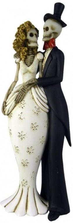 Picture of Til Death Do Us Part Skeleton Figurine 26cm