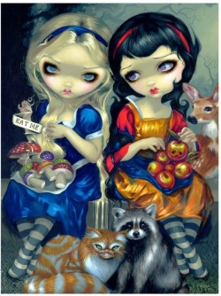 Picture of Alice and Snow White Gothic 3D Picture (Jasmine Becket-Griffith) 28 x 38 cm