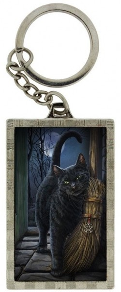 Picture of A Brush With Magic Black Cat 3D Keyring (Lisa Parker)