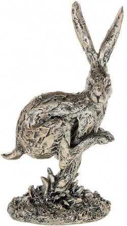 Picture of Champagne Bronze Hare Running Figurine 18cm