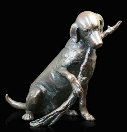 Picture of Large Labrador Woodland Walk Bronze Figurine (Limited Edition) Michael Simpson