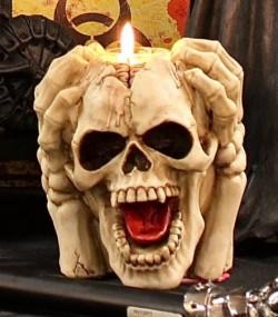 Picture of Insane Screaming Skull Tea Light Holder 15.5cm
