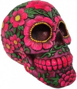 Picture of Sugar Blossom Skull Ornament Money Box 21.5cm