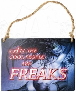 Picture of All The Cool People Are Freaks Small Steel Plaque