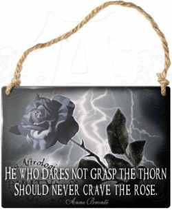 Picture of He Who Dares Not Grasp The Thorn Should Never Crave The Rose Small Steel Plaque