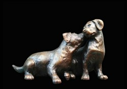 Picture of Small Labrador Puppy Pair Figurine (Limited Edition) Michael Simpson